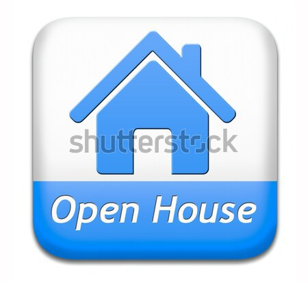 Alugar casa botão assinar quarto apartamento Foto stock © kikkerdirk