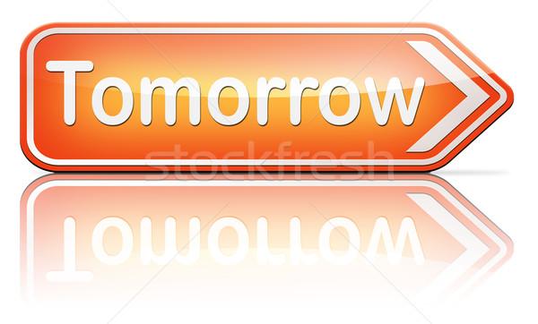 Morgen teken volgende dag banner binnenkort Stockfoto © kikkerdirk
