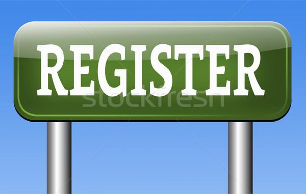 register Stock photo © kikkerdirk