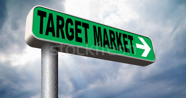 Cel rynku działalności nisza strategia marketingowa Zdjęcia stock © kikkerdirk