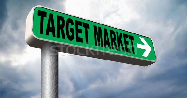 Target markt business nis Stockfoto © kikkerdirk