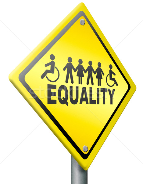 equality equal rights and solidarity Stock photo © kikkerdirk