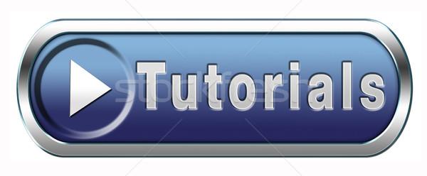 Eğitimi öğrenmek çevrimiçi video ders mavi Stok fotoğraf © kikkerdirk