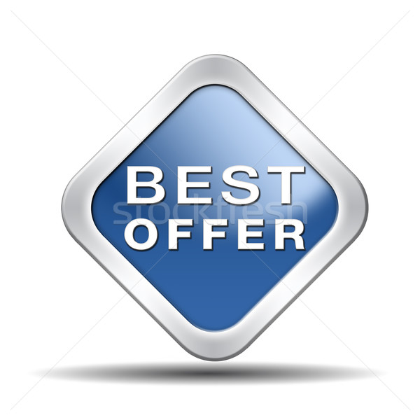 Best bieden prijs waarde geld web Stockfoto © kikkerdirk