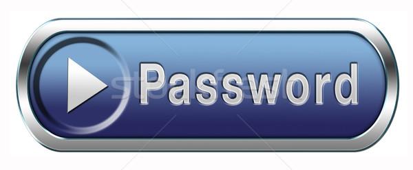 Wachtwoord knop gegevensbescherming sterke veilig verandering Stockfoto © kikkerdirk