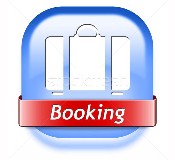 Rezerwacja wakacje bilet książki teraz online Zdjęcia stock © kikkerdirk