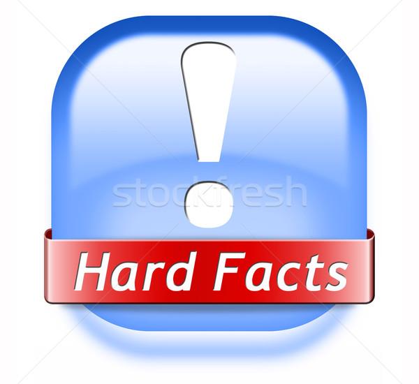 Feiten wetenschappelijk bewijs feit knop icon Stockfoto © kikkerdirk