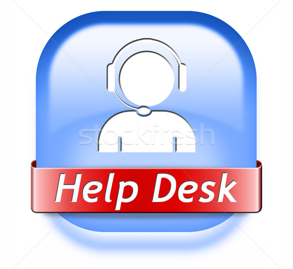 помочь столе кнопки онлайн поддержки Call Center Сток-фото © kikkerdirk