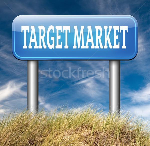 Cible marché affaires niche stratégie de marketing Photo stock © kikkerdirk