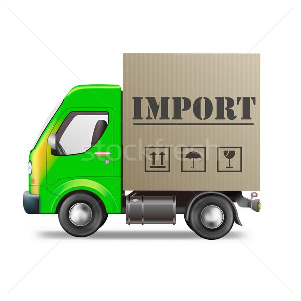 импортный грузовик международных всемирный торговли Сток-фото © kikkerdirk