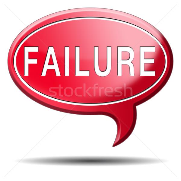 Mislukking examen poging kan slechte belangrijk Stockfoto © kikkerdirk