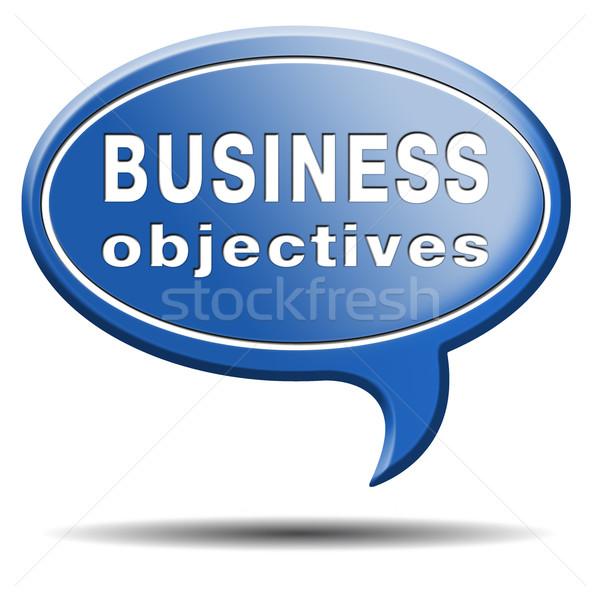 business objectives Stock photo © kikkerdirk