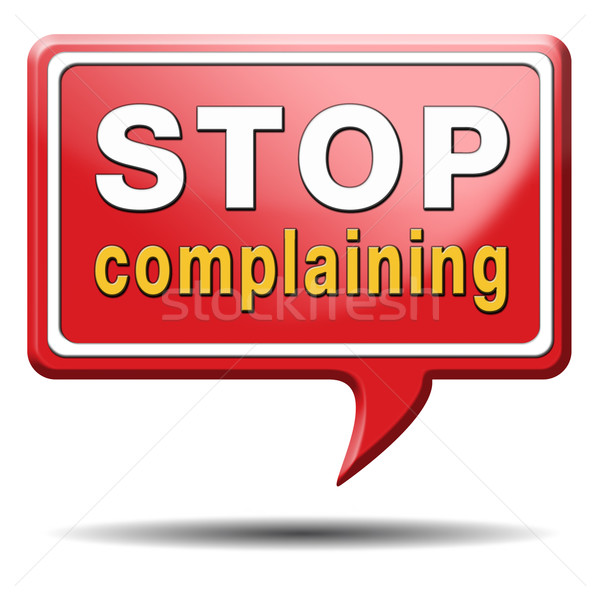 Stoppen geen negativiteit lot lot verantwoordelijkheid Stockfoto © kikkerdirk