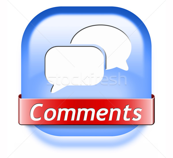 comments button Stock photo © kikkerdirk