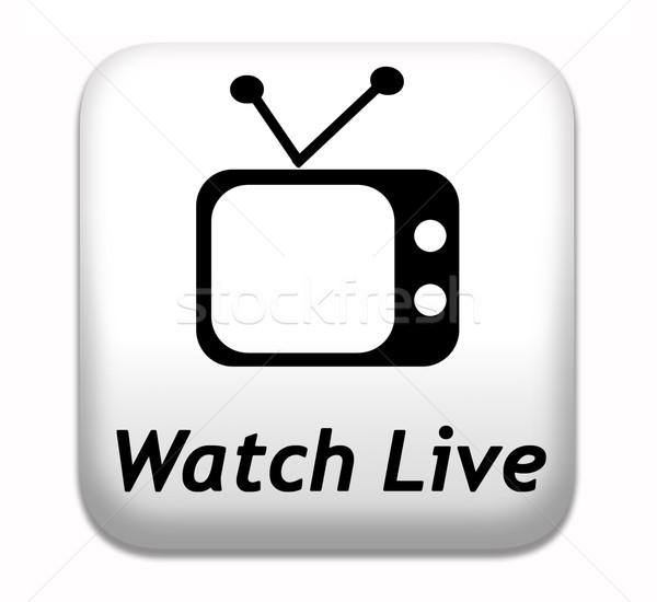 Guardare vivere tv stream video film Foto d'archivio © kikkerdirk