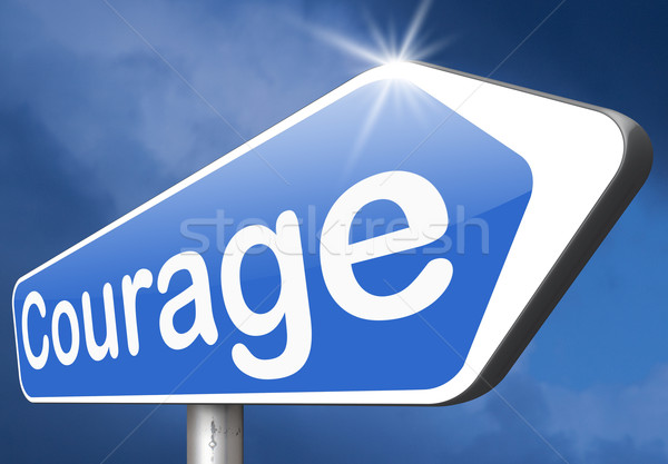 Coraggio senza paura capacità paura dolore pericolo Foto d'archivio © kikkerdirk