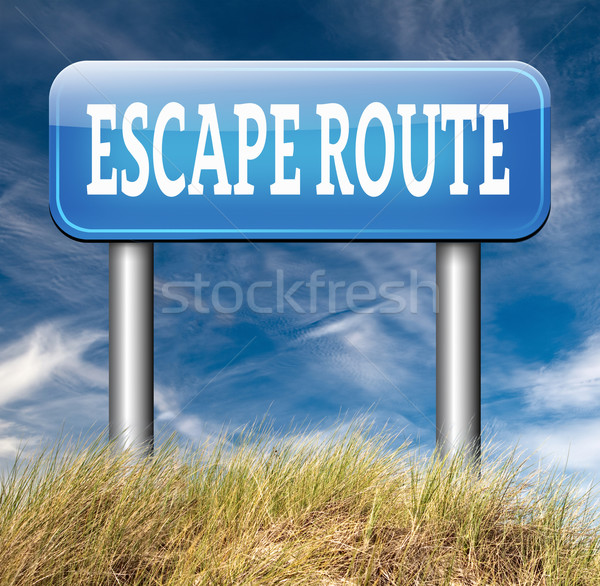 escape route to safety Stock photo © kikkerdirk