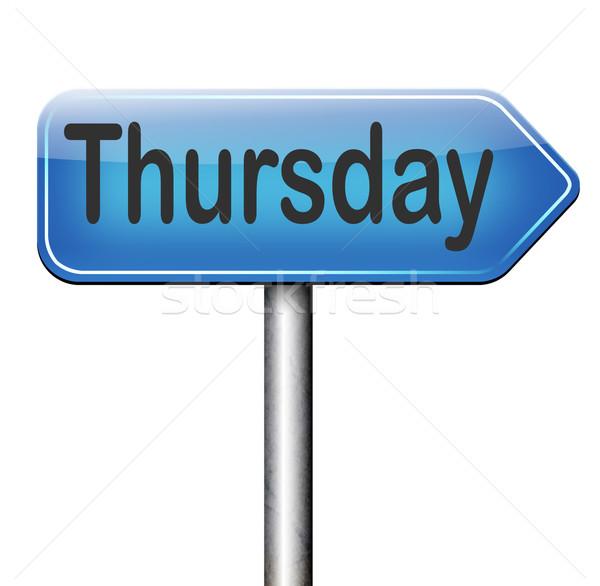 Thursday Stock photo © kikkerdirk