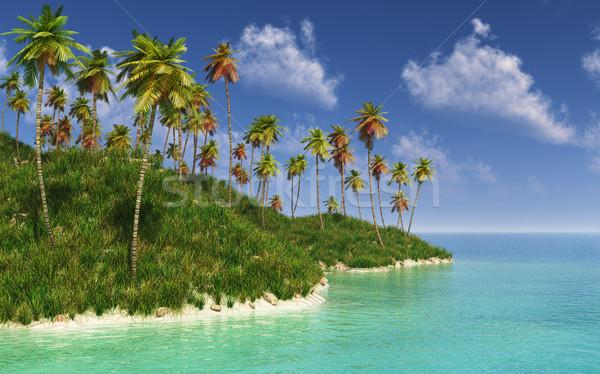 島 画像 南 海 雲 自然 ストックフォト © Kirschner