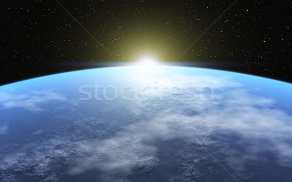 冷たい 惑星 画像 凍結 雰囲気 太陽 ストックフォト © Kirschner