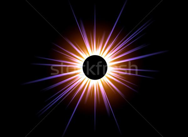 黒 太陽 画像 コンピュータ 生成された 太陽 ストックフォト © Kirschner