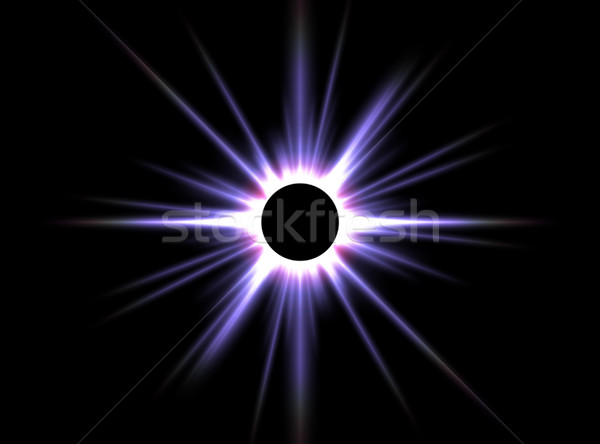 Solar eclipse imagen ordenador generado fondo Foto stock © Kirschner
