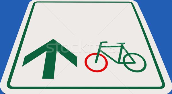 Etiket görüntü bisiklet ok imzalamak yeşil Stok fotoğraf © Kirschner