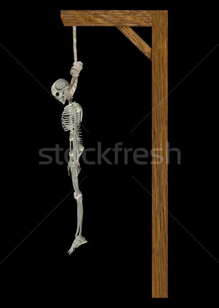 絞首刑 スケルトン 画像 木製 人間 胴 ストックフォト © Kirschner