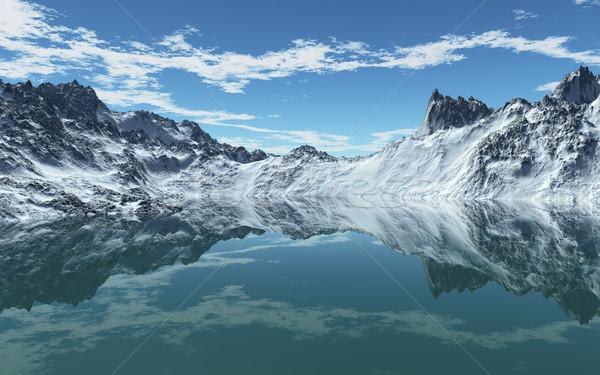 冷たい 山 海 画像 空 自然 ストックフォト © Kirschner