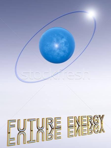 Hidrojen atom görüntü enerji beyaz kimya Stok fotoğraf © Kirschner