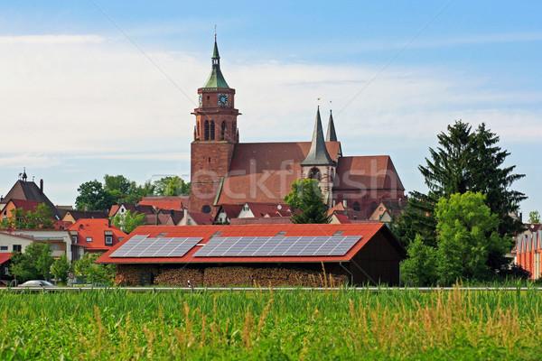 画像 カトリック教徒 教会 ツリー 草 ストックフォト © Kirschner