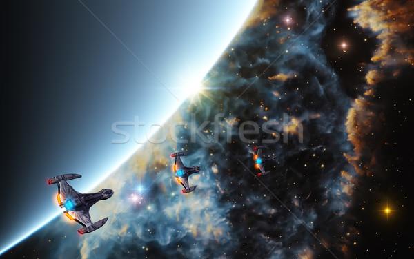 Derin uzay görüntü gezegen Yıldız doğa Stok fotoğraf © Kirschner