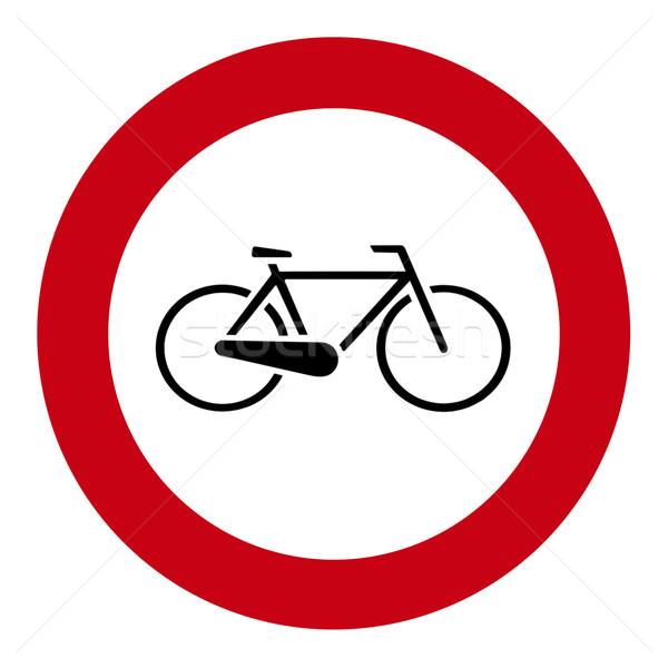 Bisiklet etiket görüntü plaka siyah Stok fotoğraf © Kirschner