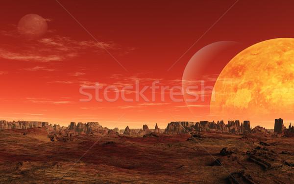 чужеродные планеты изображение пейзаж неизвестный фон Сток-фото © Kirschner