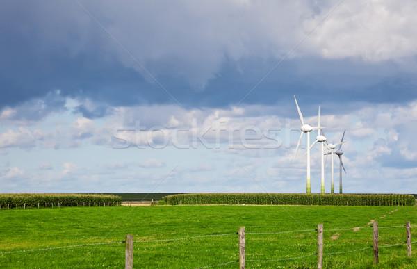 ветер генератор изображение четыре природы Сток-фото © Kirschner