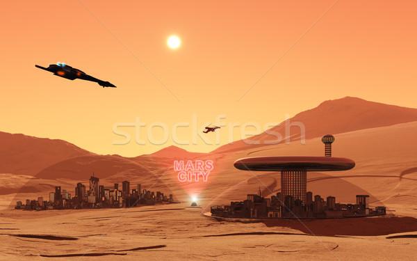 Mars City Stock photo © Kirschner