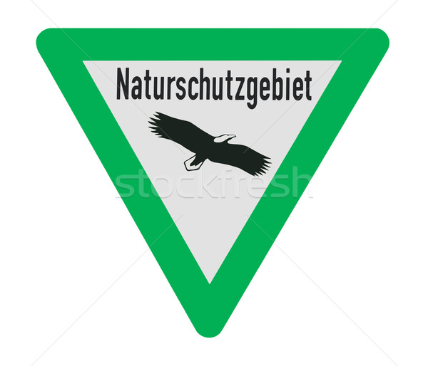 Nature Reserve Sign Stock photo © Kirschner