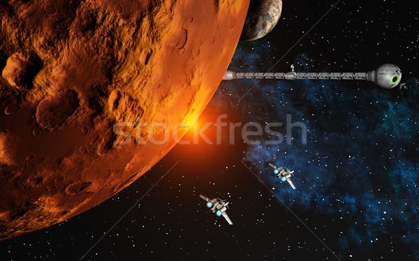 Obraz planet głęboko przestrzeni charakter księżyc Zdjęcia stock © Kirschner
