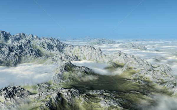 山 画像 高い 雲 草 自然 ストックフォト © Kirschner
