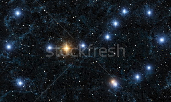 Görüntü nebula parlak Yıldız gökyüzü soyut Stok fotoğraf © Kirschner