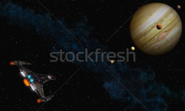 Uçmak görüntü doğa ay arka plan Stok fotoğraf © Kirschner