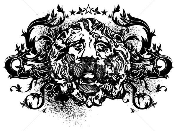 ornamental lbackground with lion Stock photo © kjolak