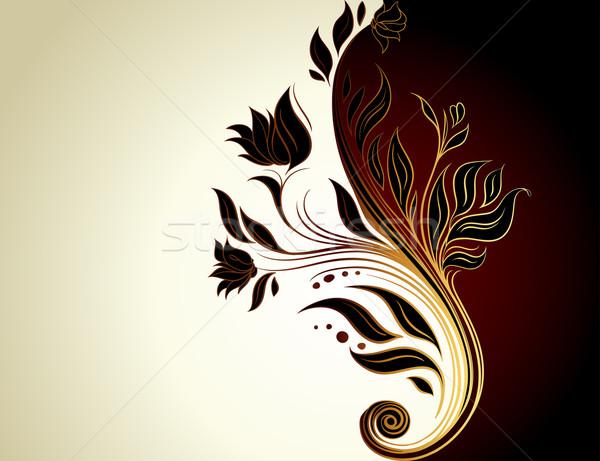 Floral cadre illustration utile designer travaux Photo stock © kjolak