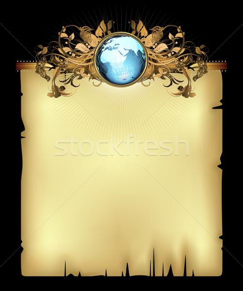 Papír világ illusztráció hasznos designer munka Stock fotó © kjolak