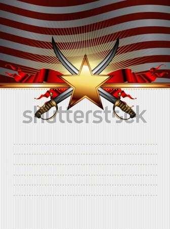 Sheriff star geweren USA abstract licht Stockfoto © kjolak