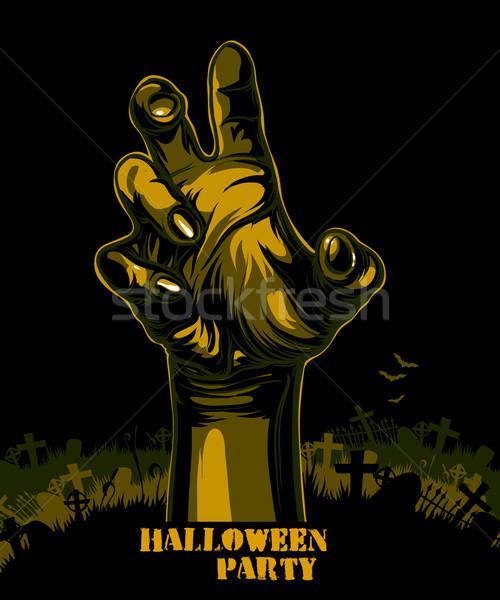 Halloween illustratie nuttig ontwerper werk hand Stockfoto © kjolak