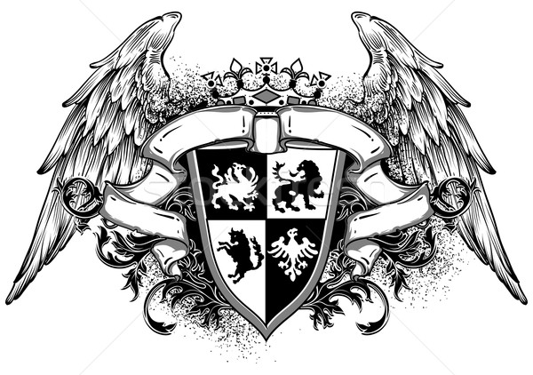 ornamental heraldic shield Stock photo © kjolak