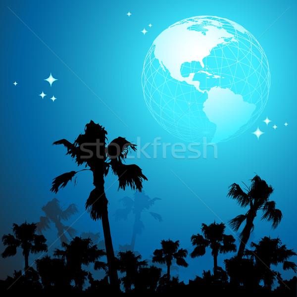 Világutazás illusztráció hasznos designer munka térkép Stock fotó © kjolak