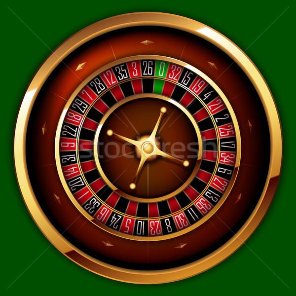 Rulett kaszinó zöld pénz terv asztal Stock fotó © kjolak
