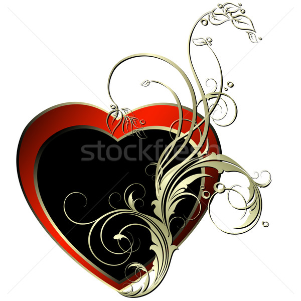 Corazón decorativo ilustración útil disenador trabajo Foto stock © kjolak
